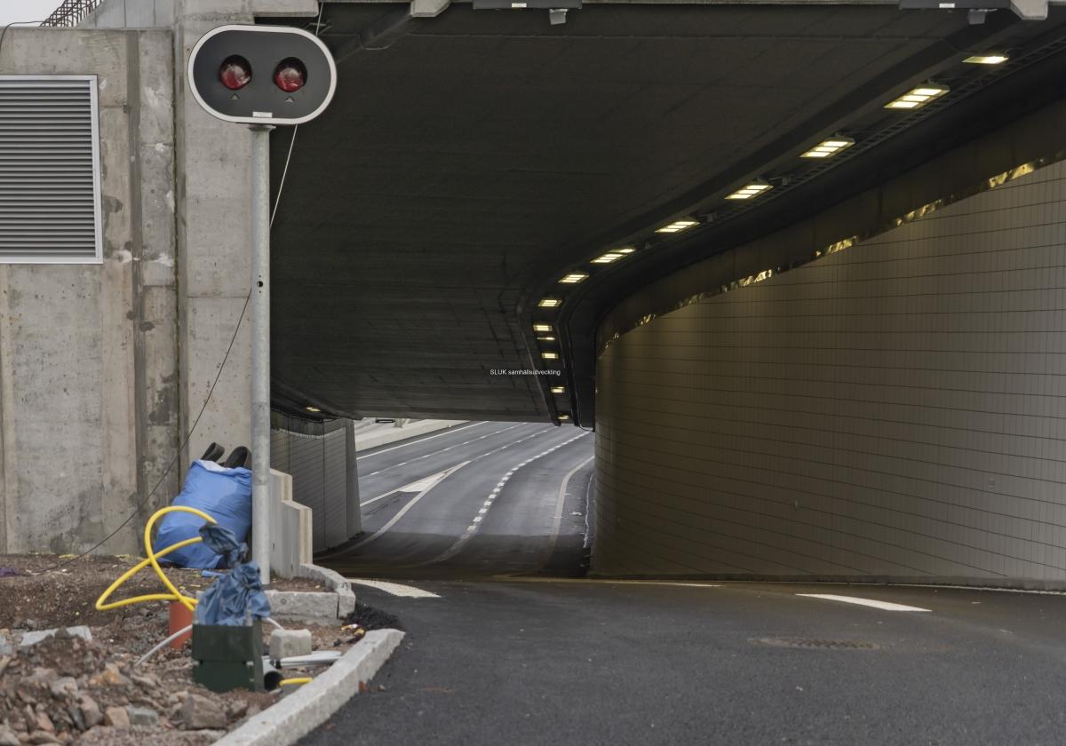 Den här tunneln är norrgående.