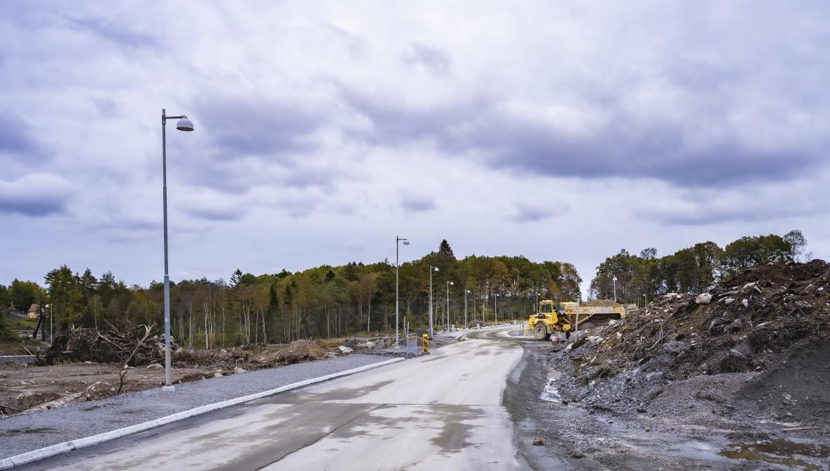I Öjersjö pågår väg och vatten arbetena för ett nytt bostadsområde Gökegård. Det kommer att finnas både flerbostadshus och fristående.