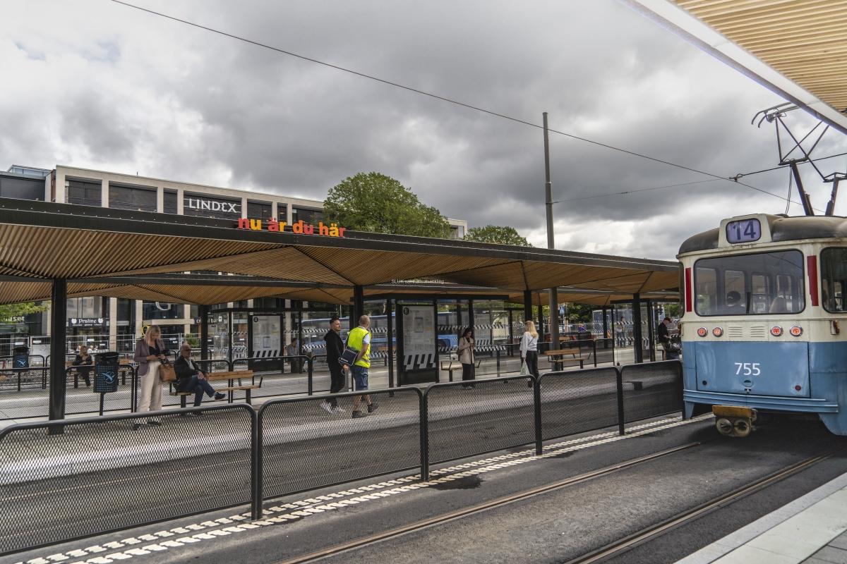 I Nordstan har de nya hållplatserna tagits i bruk.