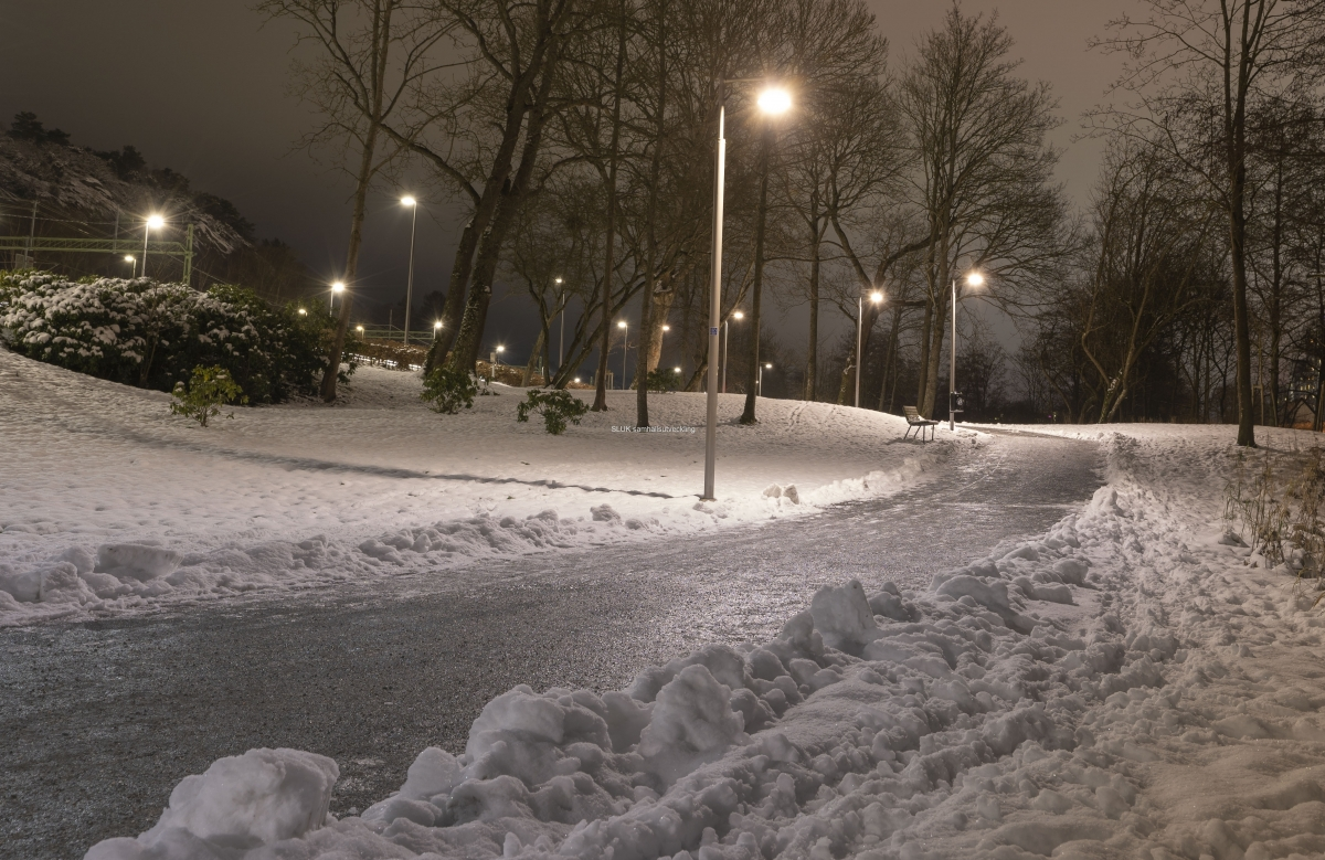 För att vara i Partille, är det rätt mycket snö!