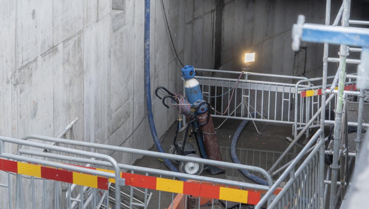 Här är en uppgång från den blivande terminalen Västlänken Haga.