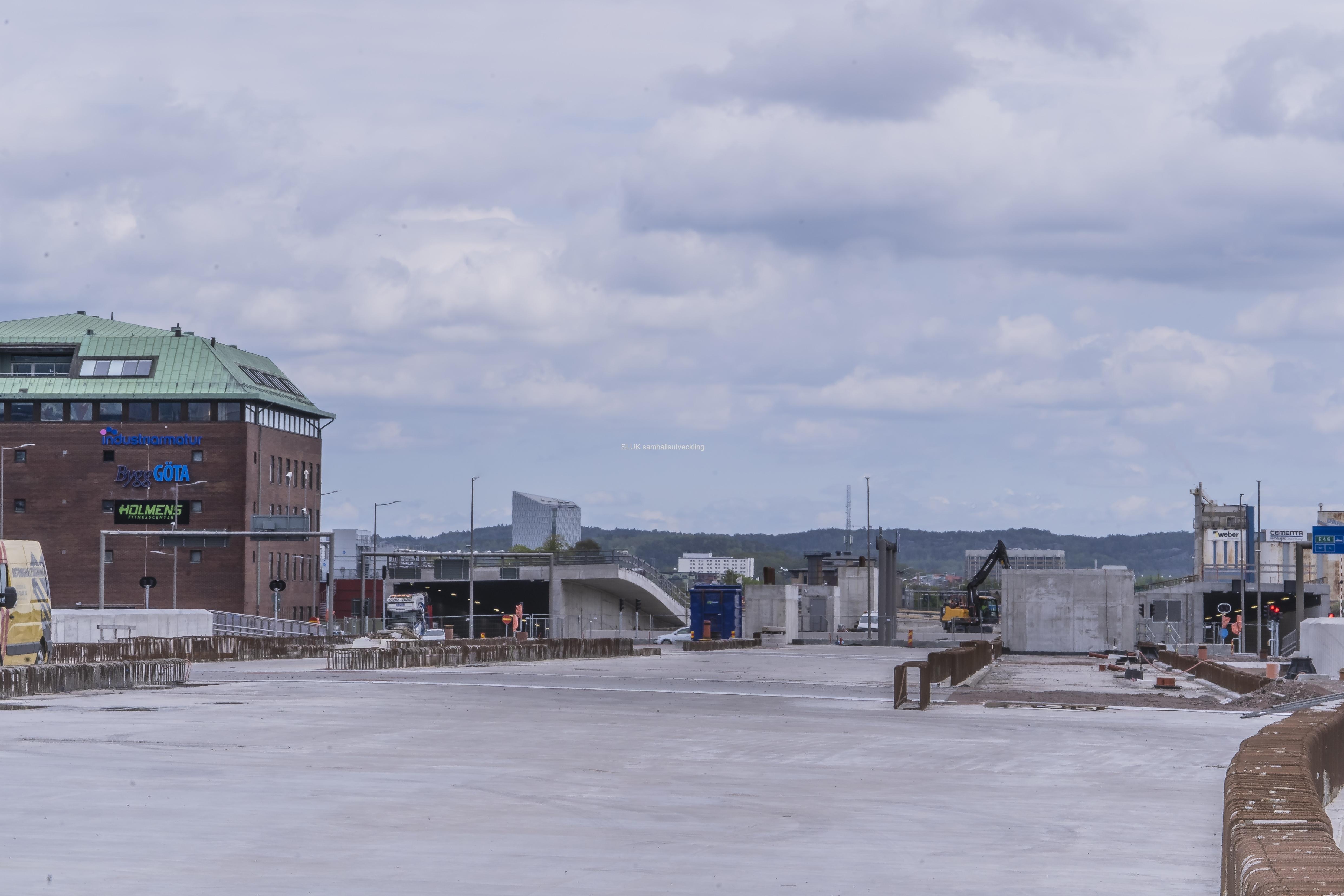 Betong över Gullbergsvass. Här kommer man att bygga bostäder och andra fastigheter.