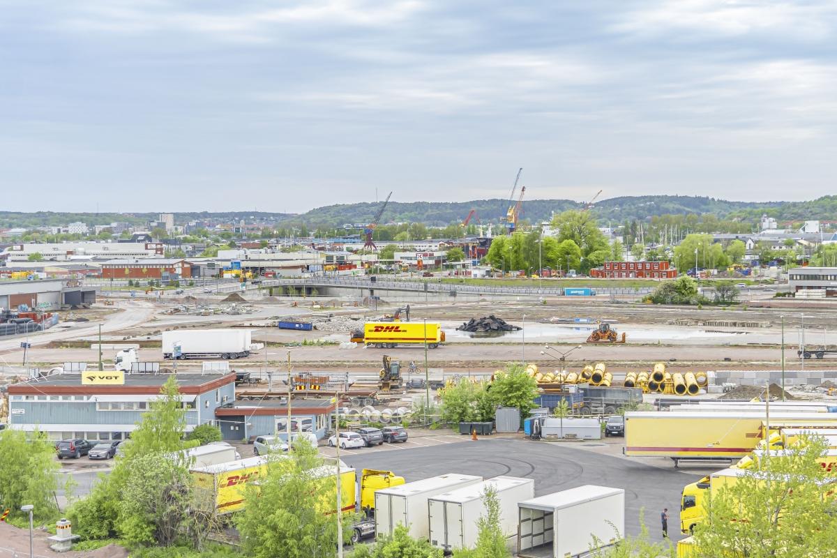 Vy från Skansen Lejonet mot Gullbergsvass .