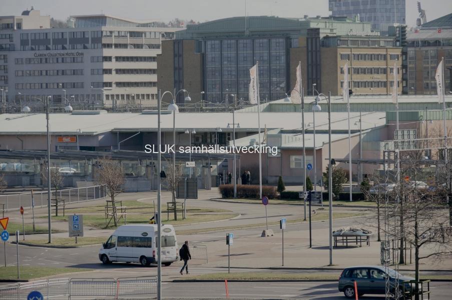 Vy över Nils Ericson Platsen mars 2017