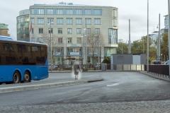 Bussinfart till resecentrum, november 2018