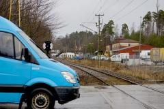 Enkelspårig järnväg Lusharpan Borås år 2017