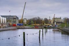 I Rosenlund vid Feskekyrkan har gång- och cykelvägen flyttats  under maj 2019 och  ersatts av en tillfällig, som kommer att finnas kvar tills arbetena är avslutade.