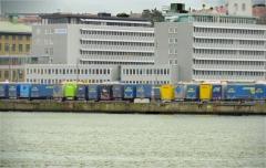 Masthuggskajen syns från Eriksberg år 2017