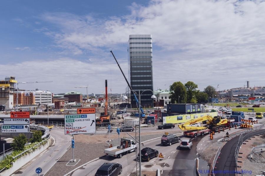 E45 sänks och staden förtätas ovanpå med nya fastigheter