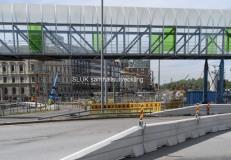Man ser pågående arbeten för både Hisingsbron och för Västlänken.