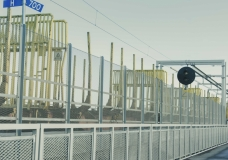 Godståg passerar i Marieholm, Göteborg