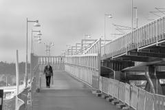 Marieholms gång och cykelbro år 2017