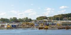 Arbete med Marieholmstunneln september 2018