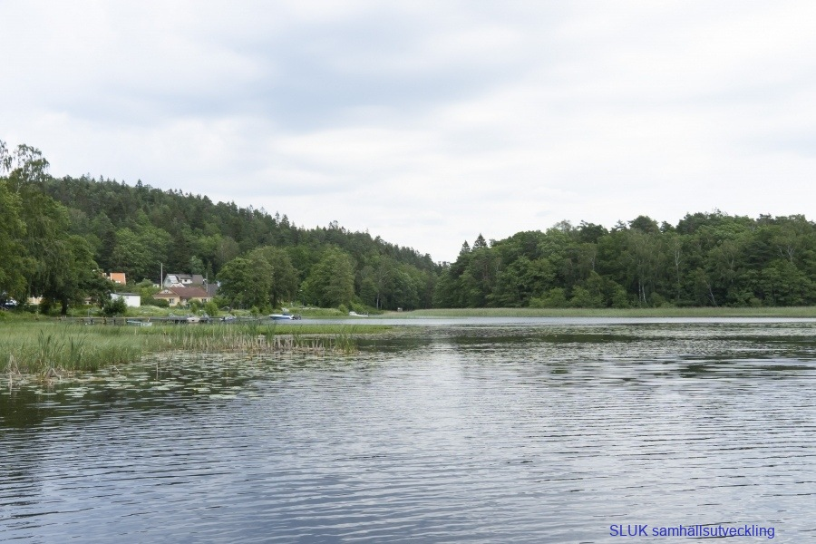 Vy över sjön Alehagen