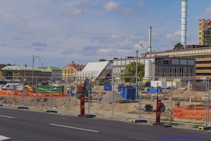 Arbetet med Västlänken fortskrider utmed Södra Allègatan