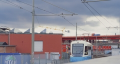 Här anländer spårvagn nr 11 till Gamlestaden