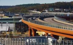 Mellan den 17 oktober och 3 november pågick dygnet runt arbeten med planskildhet för järnvägsspår