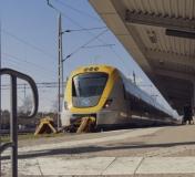Västtåg står på terminalen