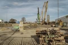 På den västra etableringen mot Nils Ericsonplatsen syns inga grävningar längre, den 23 mars.