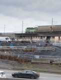 Gång- och cykelbron från Gullbergsvass till Olskroken har rivits och man bygger en  ny bro